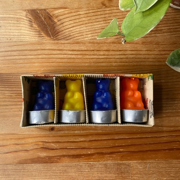 Vintage Gummy Bear Set Candles